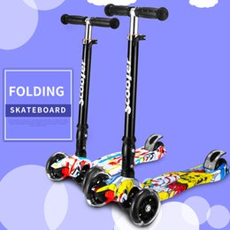 Wholesale File Standards - Children Mini Scooter Kick Scooter with 4 Flashing PU Wheels 3 Files Adjust Height Foot-Scooter Camokat 2107328