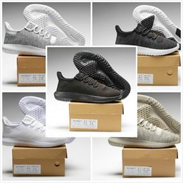 Wholesale White Shadow Box - Original Box 2017 Men Women Tubular Shadow Knit Core Cardboard 350 Boost Black Moonrock Tan Casual Sneakers Running Shoes US Size 5-10