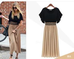 Señoras del vestido formal de las señoras se visten, vestido de gasa de la nueva moda del verano, costura de la hoja de loto en la falda larga desde fabricantes