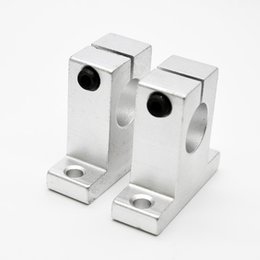 Wholesale Shaft Linear Guide Support - Wholesale- SK12 SH12A 12mm linear rail shaft support block for cnc linear slide bearing guide cnc parts