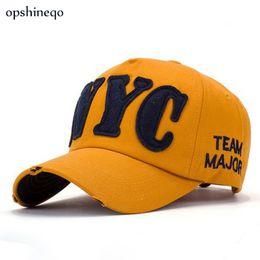 Wholesale Wholesale Hats Nyc - Wholesale- Opshineqo Brand NYC Couple Patch Letters Cap Men Women Hip-Hop Hats Baseball Cap Gorras Planas Snapback hat summer cap wholesale