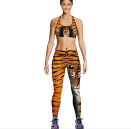 Maglia di stampa tigre online-10 set donne Tiger Camisole Giallo Leopard Tanks Camicie In Esecuzione Canotta Vest Stampa Palestra Sport Canotte Stampa Digitale Senza Maniche A064