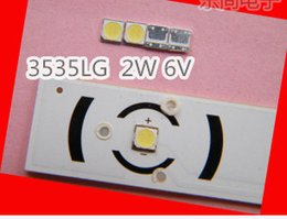 Wholesale led for lcd backlight - Wholesale- 100PCS Lot LG SMD LED 3535 6V Cold White 2W For TV LCD Backlight