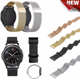 Wholesale Smart S3 - 22MM Magnetic Milanese Loop For Samsung Gear S3 Classic S3 Frontier Watch Band Bracelet Strap Stainless Steel Band black sliver