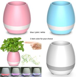 Wholesale Flower Play - 2017 Flower Pot Play Piano on a Real Plant Festival Music Plant Lamp smart flower-pots Rechargeable bluetooth speaker Wireless Smart