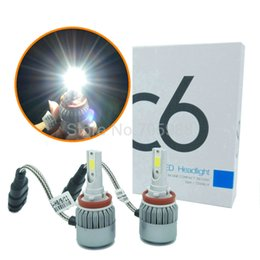Wholesale Led H8 - H8 H9 H11 LED headlamps kit car headlights WITH COB chip 9006 9005 HB3 HB4 Auto LED headlamp bulbs led 36W 3800LM
