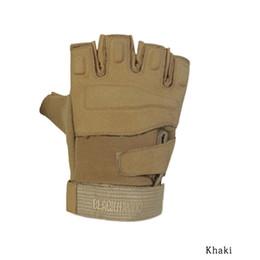 Wholesale Men Half Gloves - High Quality Militar Tactical Gloves Gym Men Fighting Half Finger Army Gloves Fitness Anti-slip Gloves M L XL