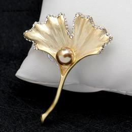clip vintage in sciarpa Sconti Vintage argento oro gingkos spille pin perla strass corpetti clip sciarpa amore per sempre spilla da sposa regalo gioielli di natale 170691