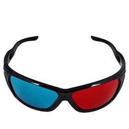 Universal 3D Plastic Glasses Black Frame Rojo Azul 3D Visoin Glass para Dimensional Anaglyph Movie Game DVD Video TV desde fabricantes