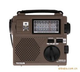 Wholesale Radio Protection - Wholesale-The Tecsun Green-88 radio portable rechargeable full band radio   environmental protection   emergency products