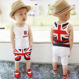 Nouvelle arrivée été enfants vêtements bébé garçons vêtements ensemble t-shirts compteur mot drapeau 2 pièces ensembles de haute qualité ? partir de fabricateur