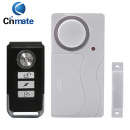 Wholesale Security Systems Siren - Door Window Remote Control Smart Home Security Alarm Warning System with Magnetic Sensor Alarm Wireless Siren Detector Alarme 10pcs