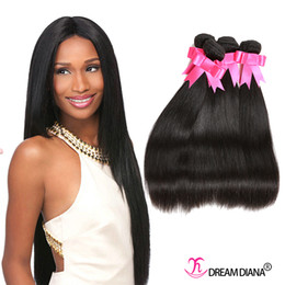 Wholesale Indian Extensions Price - Brazilian Straight Hair Weaves 100% Human Hair Bundles 4Pcs  Lot Wholesale Price Straight Brazilian Hair Extensions Natural Black