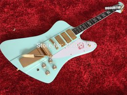Wholesale Guitar Whammy - Custom shop Firebird VII Mint Blue Electric Guitar 3 Mini Humbuckers Special Tremolo Bridge (Long Verson Maestro Vibrola) Whammy Bar