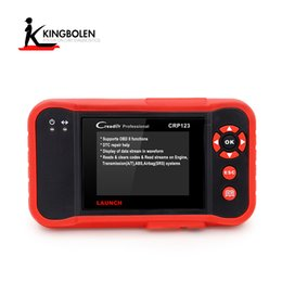 Wholesale Saab Launch Crp123 - 2017 Original Launch CRP123 Update Online LAUNCH X431 Creader CRP123 ABS SRS Transmission and Engine obd2 Code Scanner DHL free Shipping