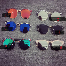 Wholesale Baby Tablets - Fashion Stylish Boys Girls Sunglass Full Frame&Half frame glasses Colorful mercury tablets Baby Anti-ultraviolet sunglasses 13 colors C1883