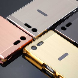 Wholesale Xperia Cell Phone Cases - Metal Frame For Sony Xperia XZ and X Compact Aluminum Case 4 Colors Noble Cover Cell Phone Bumpers