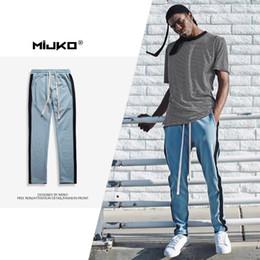 Wholesale Men Pants Army Winter - MIJKO Men's Wear 2017 Autumn Winter New Sportwear Single Bar Pants Men's Simple Casual Pants Four-color Men Silm Trousers