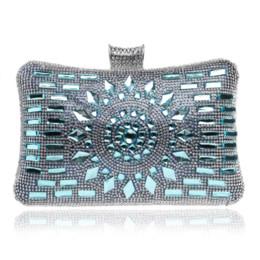 Wholesale Bridal Party Totes - Women Clutch Bags Diamonds Finger Ring Ladies Vintage Evening Bags Crystal Wedding Bridal Handbags Purse Bags Holder