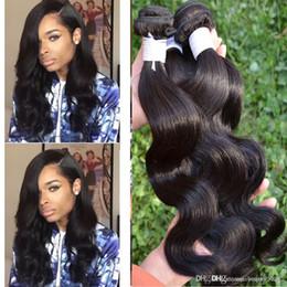Wholesale ali queen - Queen Hair Products Brazilian Body Wave Brazillian Human Brizilian Nature Hair Mocha Hair Company Ali Queen Weave Beauty 3,4,5pcs lot