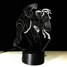 Wholesale Night Knight - 3D Knight Illusion Lamp Night Light DC 5V USB Powered AA Battery Wholesale Dropshipping Free Shipping
