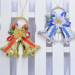 Wholesale gold plastic bells - Creative Plastic 15cm Pendant Drop Bells Ornaments Christmas Tree Hanging Bell Party Decoration JINGLE BELLS ZA4087