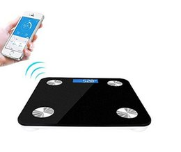 Wholesale Digital Scale For Body - Wholesale-50pcs lot Mini smart weighing scale Bluetooth 4.0 Losing Weight Digital Scale Body Fat Scale with App for iOS and Android