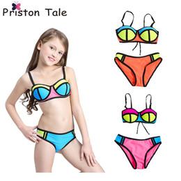 Wholesale L Child Bikini - 2017 New Children Swimwear Baby Kids Cute Bikinis Set Girls Swimsuit Bathing Suit Beachwear Neoprene Bikini Maillot De Bain 381