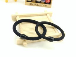 Wholesale Thick Elastic Bands - 100pcs Ponytail Elastic Holder-Black Thick 6 mm 10 Pieces-Pony O supply-Hair accessory-Hair Supplies-Cheerleader Pony O Supply-Elastic Band-