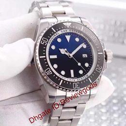 Wholesale sea dweller 44mm - Luxury Brand Men's SEA-DWELLER DEEP Ceramic Bezel 44mm SEA Stanless Steel 116660 Automatic AAA Quality Mens Business Casual Watches Men