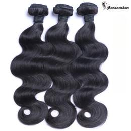 Capelli umani vergini di alta qualità online-Grande qualità brasiliana malese peruviana indiana dei capelli del virgin dell'onda del corpo non trasformati umani vergini fasci capelli migliori capelli