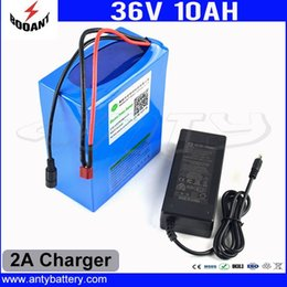 Wholesale Electric Battery For Bike - 36V 10AH 450W Electric Bike Battery 36V For 8Fun Bafang Motor 18650 Cell With 2A Chraeger 15A BMS eBike Battery Free Shipping