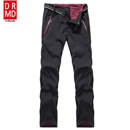 Wholesale Winter Soft Shell Pants - Wholesale- Winter ski pants men waterproof soft shell fleece pant thicken outdoor thermal fleece snowboard trousers men skiing snow pants