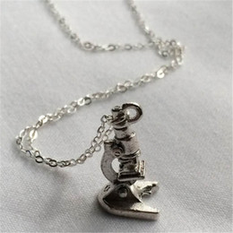 Wholesale Marvel Gifts - 12pcs lot Bruce Banner Incredible Hulk Marvel Science Bros Microscope Inspired Silver Plated Charm Necklace
