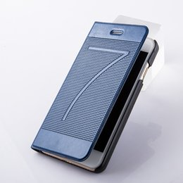 Wholesale Plaid Cell Phone Cases - Luxury ultra thin Plaid wallet Case for iPhone 7 6 Stand Card Slot Retro Vintage Cell phone Cover