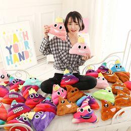 Wholesale kids decorative pillows - Hot Sale Cute Emoji Poop Shits Cushion Soft Sofa Pillows QQ Expression Cushions Plush Toys Dolls For Kids Girts Decorative 9 5xc R
