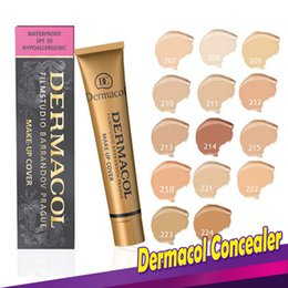 Wholesale Golden Skins - Dermacol Concealer Make Up DC Concealer Golden Foundation Cover Primer Base Professional Face Dermacol Makeup Base Contour Palette.