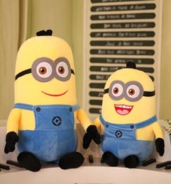Wholesale Yellow Minion Plush - 20151019 Minions hold pillow doll plush toys girls large god steal milk daddy present toy girl a birthday present