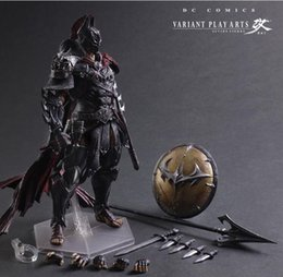 2019 modelos de batman Batman Play Arts Kai 28cm figura pintada Variante variable Ver. Timeless Spartan PVC Action Figures Collectible Model Toys modelos de batman baratos