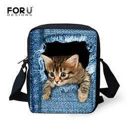 Wholesale 3d Printing Camel - Wholesale- FORUDESIGNS Desinger Women Messenger Bags 3D Animal Printing Shoulder Bag Kawaii Cat Messenger Bags High Crossbosy Bag for Girls