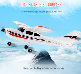 Wholesale Cessna Rc Rtf - WLtoys F949 Cessna 182 2.4G 3CH Aircraft Fixed-wing Drone Plane RTF RC Toys Airplane Quadcopter Outdoor helicoptero toys for kid
