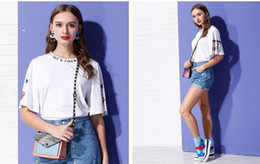 Wholesale Fashion Express - XXXXL Novelty T-Shirt Women Summer Fashion Casual T-Shirt Loose Printing Short Sleeves Round Neck Wholesale FEDEX TNT DHL Express And Retail