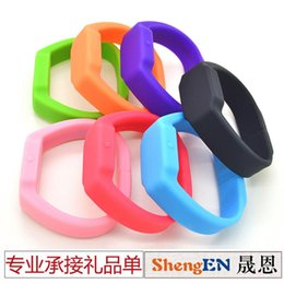 Wholesale Disk Table - LED watch U 8g disk LED Bracelet Watch silicone wrist band electronic table U disk fashion