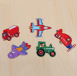 Wholesale Cartoon Motifs - New arrival 20PC set Plane Embroidered patches iron on cartoon Motif Applique fabric cloth embroidery accessory