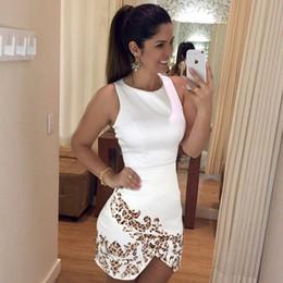 Wholesale Wholesale Leopard Bodycon Dresses - Wholesale- BornToGirl Women Sexy Split White Short Dress 2017 Party Club Bodycon Office Work Dress Printed Leopard Dress vestido robe femme