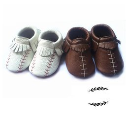 Wholesale Cool Shoes For Girls - Baby boys cool shoes Infant girl football baseball shoes moccasins for kids soft sole First Walkers