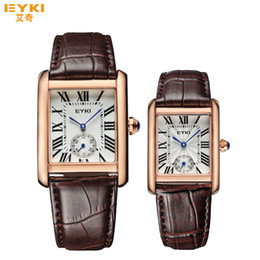 Wholesale Eyki Male Watch - 2017 new hot Luxury watches Casual couple watches Famous Brand Eyki Strap Original Clasp quartz wristwatch for couple Free Shipping