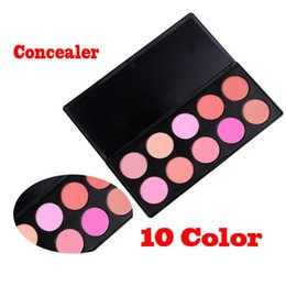 Wholesale Makeup Blusher Products - Wholesale-Free Shipping, Professional 10 Color Makeup Blush Face Blusher Powder Palette Cosmetics Makeup Product
