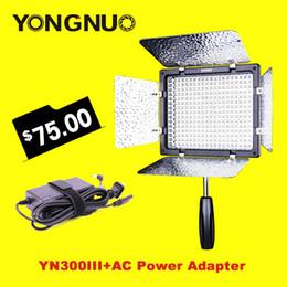 Wholesale Adapter Ac Power Set - Wholesale-YONGNUO YN300 III YN-300 III 3200k-5500K Camera Photo LED Video Light with AC power Adapter Set for Wedding