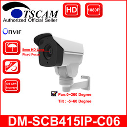 Wholesale Wired Network Ip Camera - TSCAM new DM-SCB415IP-C06 Bullet IP Camera HD 1080P 2.0MP Outdoor Waterproof CCTV Network IR MINI PTZ Security Camera Pan Tilt P2P